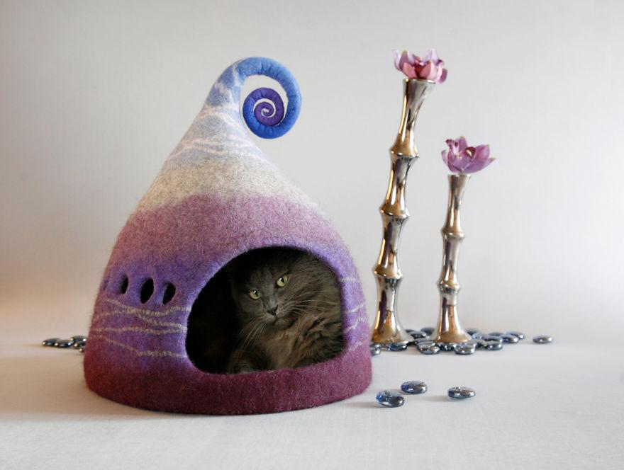 Домик из фетра своими руками для кошек 91