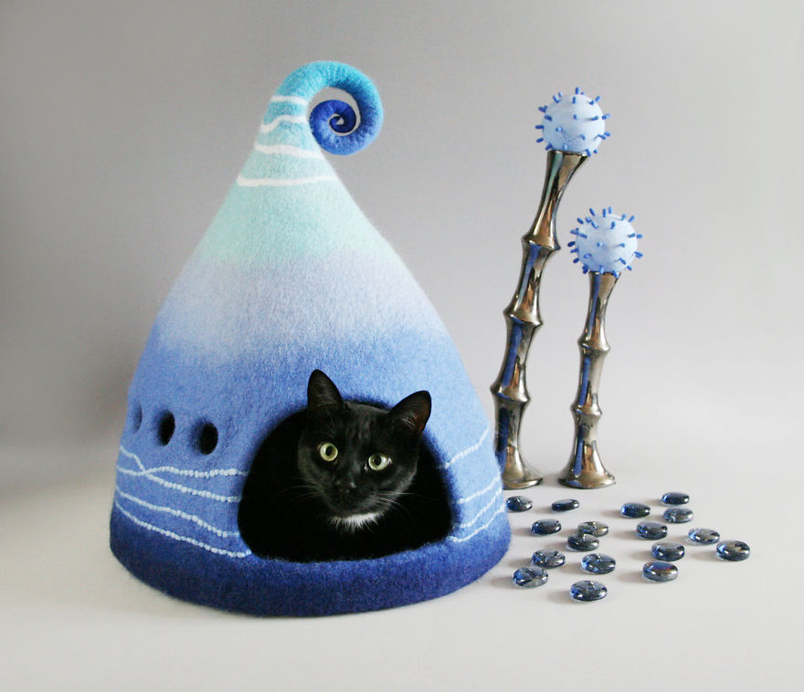 Домик из фетра своими руками для кошек 99