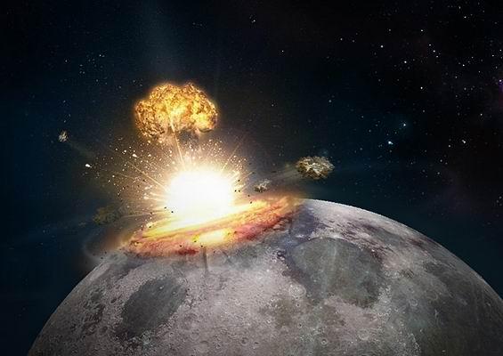 Причина образования многочисленных кратеров на луне